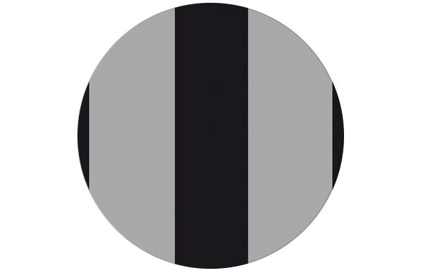 """Wandgestaltung: Coole Streifentapete """"Pedigree"""" in schwarz/ grau für Schlafzimmer"""