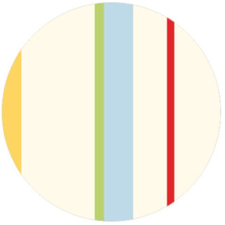 Wandgestaltung: Bunte individuelle Streifentapete Designtapete für schönes Wohnen