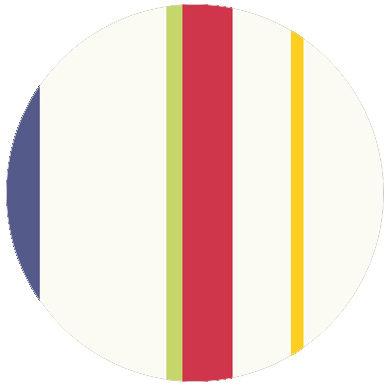 Wandgestaltung: Trendige bunte Streifentapete Design Tapete für schönes Wohnen