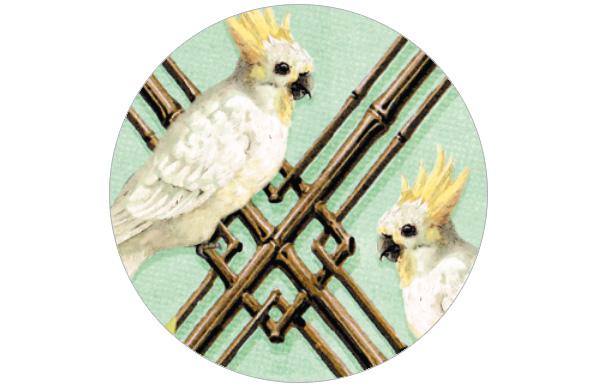 """Sommer Vintage Tapete """"Été c'est moi"""" mit Vögeln klassische Wandgestaltung"""