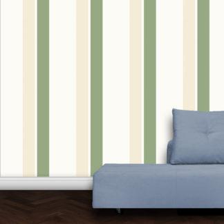 Wandtapete: Grüne Streifen Design Tapete Streifentapete für schönes Wohnen