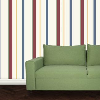 Wandtapete: Streifentapete mehrfarbig, Design Tapete für schönes Wohnen