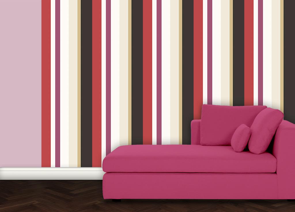 Moderne Design Streifentapete Wandgestaltung Streifen Vliestapete Küche Flur