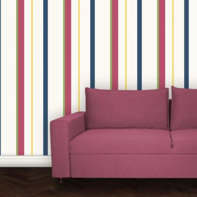 Wandtapete: Multicolor Streifentapete Design Tapete für schönes Wohnen