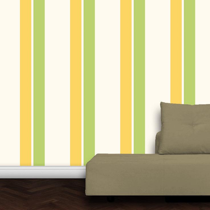 Wandtapete: Individuelle Streifentapete Design Tapete für schönes Wohnen