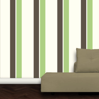 Wandtapete: Grüne Streifentapete Design Vlies Tapete für schönes Wohnen