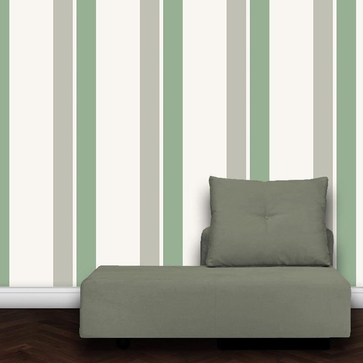 Wandtapete: Farbangepasste Streifentapete Design Tapete für schönes Wohnen