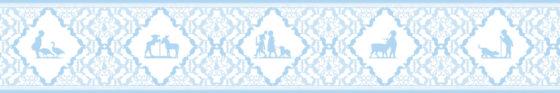 Baby blaue Streifen Tapete