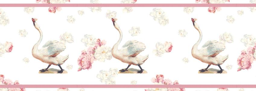 Romantische Tapetenborte: Mein lieber Schwan