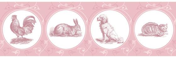 Elegante Haustier Tapete in pink