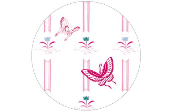 Gestreifte Schmetterlings Tapete