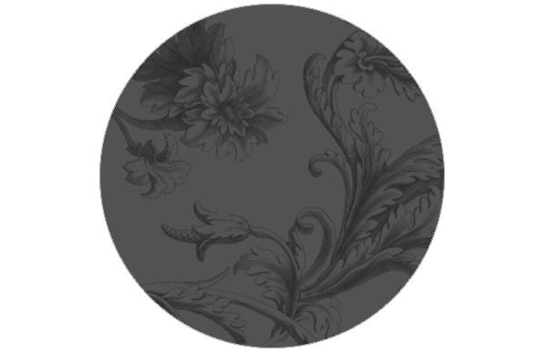 Elegante, graue Barock-Tapete