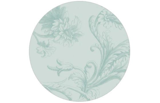 Barock Tapete in hellem blau/ türkis