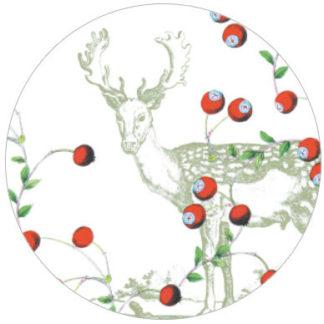 Vliestapete Beerenwild mit Hirschen