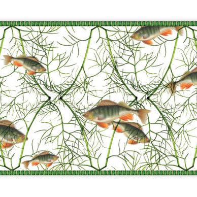 Leckere Fisch an Dill Tapetenborte