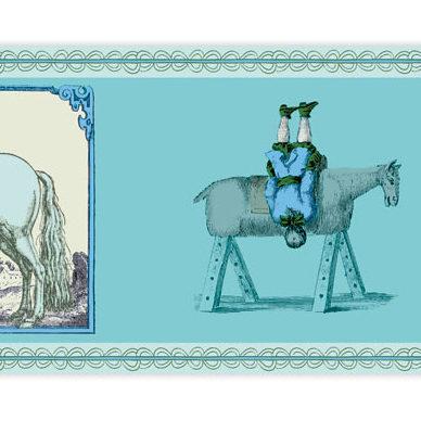 "Tolle Reiter Borte ""Kunst am Pferd """
