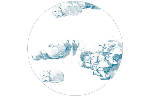 Le Repos - Hinreißende Tapete mit schlafenden Hirten