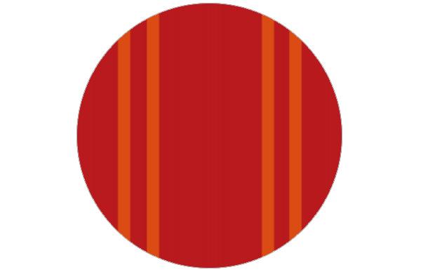 Elegante Streifen Tapete in warmen Rot-Tönen