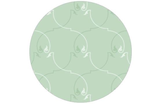 Ornamentale Tapete in grün