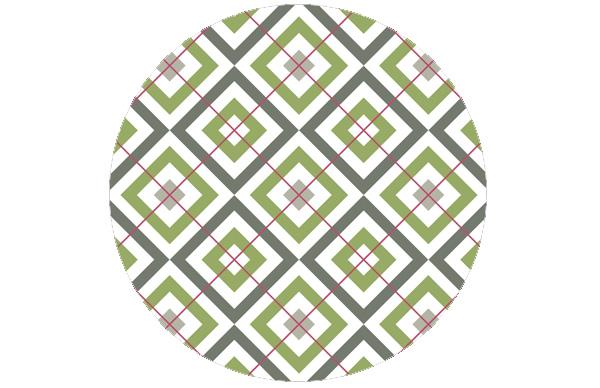 Moderne Diamant Tapete grün (Green Smoke) mit Karo - rot