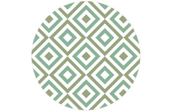 Coole square diamants grün angepasst an Farrow and Ball Saxon Green 80   Arsenic 214