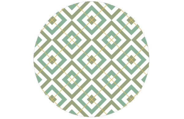 Edle Tapete Diamant grün (Saxon Green) mit Karo - gelb