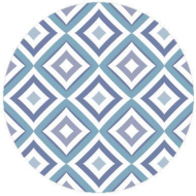 Hellblaue Designer Diamant Tapete