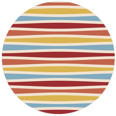Multicolor Swing Querstreifentapete passend zu Ikea Trendfarben 1
