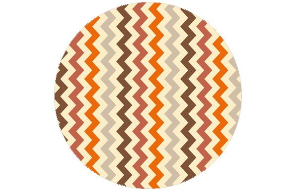Zickzack Streifentapete bunt und individuell, passend zu Schöner Wohnen Trendfarben