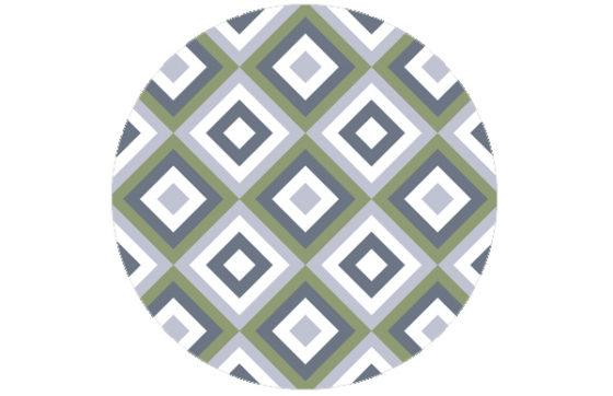 Moderne Tapete Diamant grün angepasst an Little Greene Weekend 110 | Garden 86