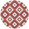 Schicke Diamant Tapete rot mit Karo (grün grau) angepasst an Farrow and Ball Green Smoke
