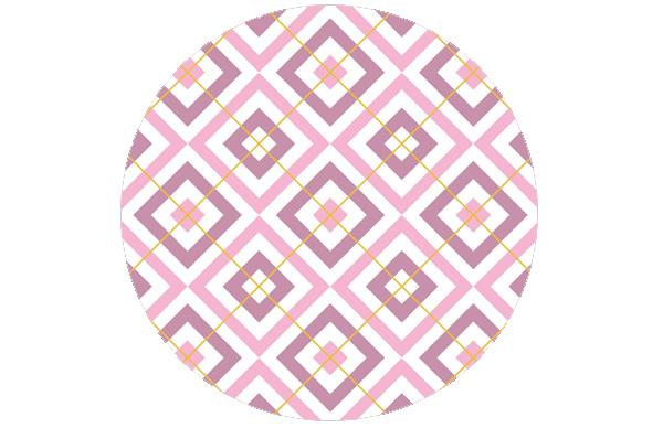 Angepasste Diamant Tapete rosa mit Karo (gelb) angepasst an Little Greene Mister David