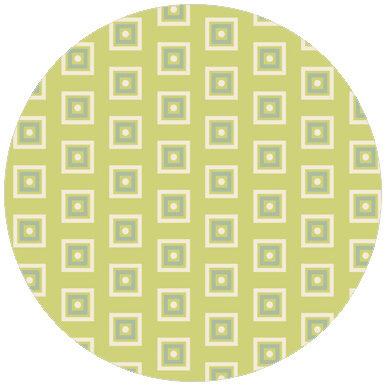 Moderne Little Square Tapete grün angepasst an Schöner Wohnen Trendfarbe Farn