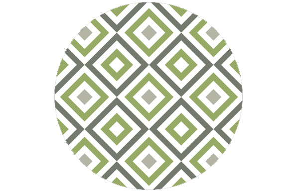 Square living - Diamant Tapete grün angepasst an Ikea 114 | Green Smoke 47