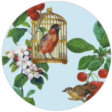 Apfelkirsche - die Vintage Tapete für Gartenfreunde Vliestapete für Küche Wohnzimmer