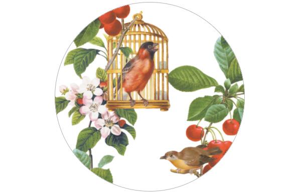 Sommer Vintage Tapete mit zwitschernden Vögeln Vliestapete für Wohnzimmer