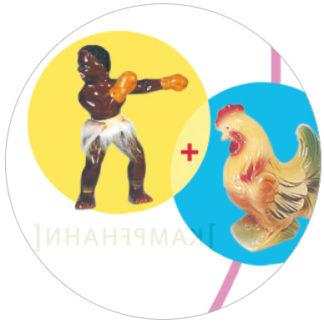 Lustige Bilderrätsel Tapete Design Vliestapete für Büro Kinderzimmer