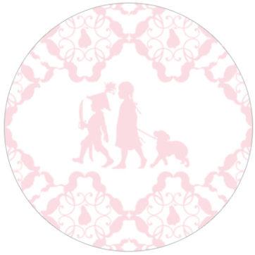 Hinreißende Kindertapete mit Scherenschnitten Vliestapete Mädchen Kinderzimmer