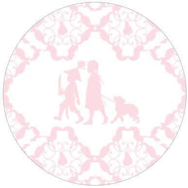 Hinreißende Kinder Tapete mit Scherenschnitt für Baby | GMM-Berlin.com