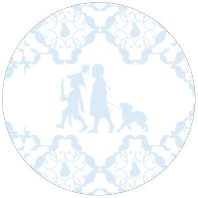 Baby Kinderzimmer Tapete mit Scherenschnitt Vliestapete für Jungs