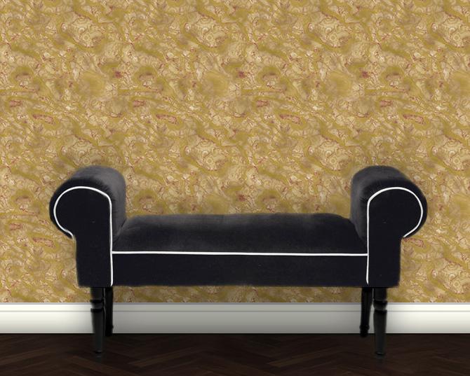 Schön gemusterte Marmor Tapete – beige Wandgestaltung Steinoptik