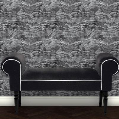 Edel graue Streifen Marmor Tapete Design Vliestapete in Steinoptik