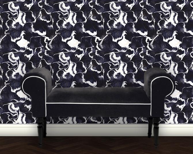 Marble Art Tapete - Design Vliestapete schwarz mit Steinoptik