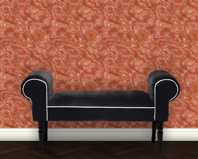 Design Tapete im Marmor Design – orange Vliestapete modern