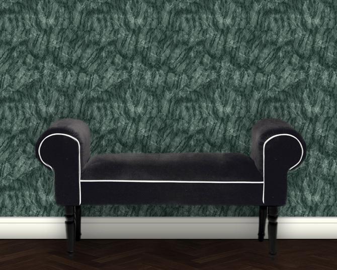 Klassische Marmor Tapete - grün Design Vliestapete Steinoptik