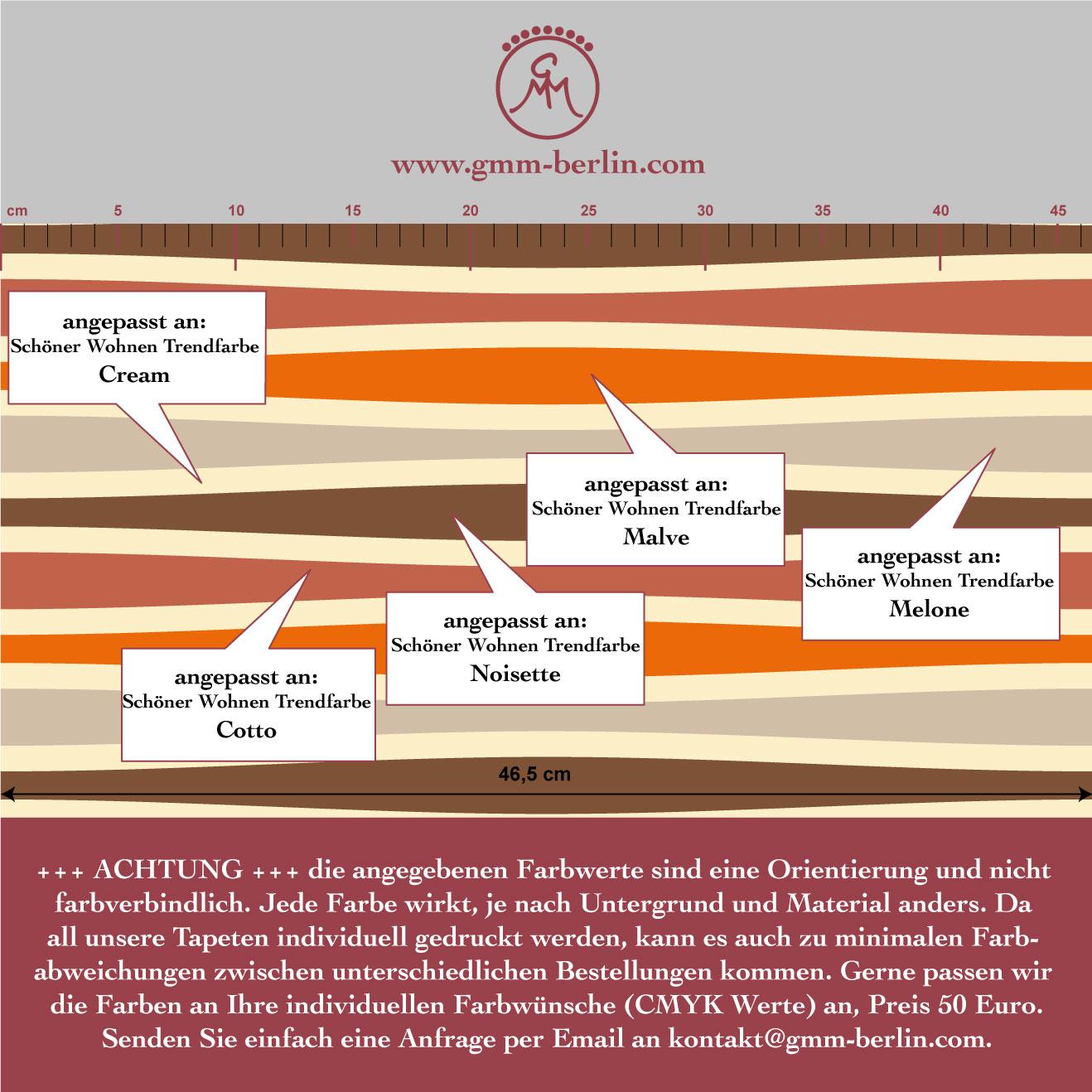 Swing Streifentapete quer, passend zu Schöner Wohnen Trendfarben 3