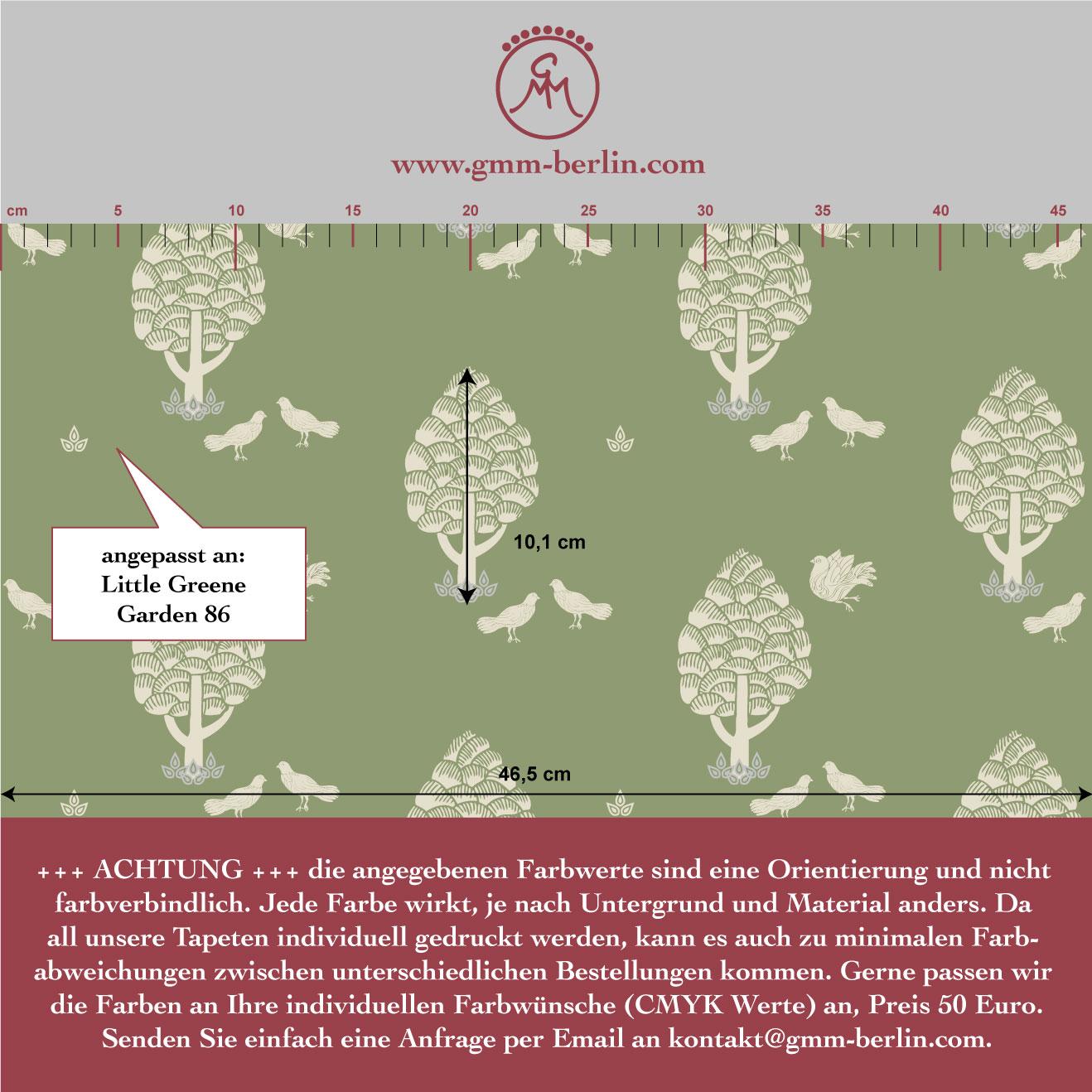 Grüne Central Park Tapete angepasst an Little Greene Garden 86 3