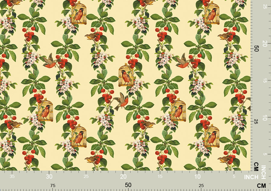 Schöne Vogel Tapete - die Apfelkirsche 3