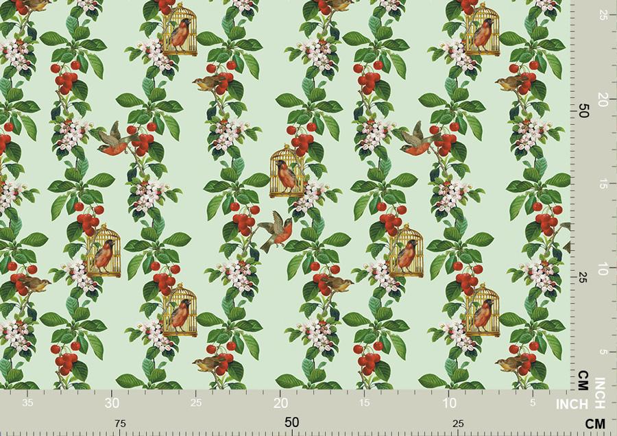 Garten Tapete: Die Apfelkirsche