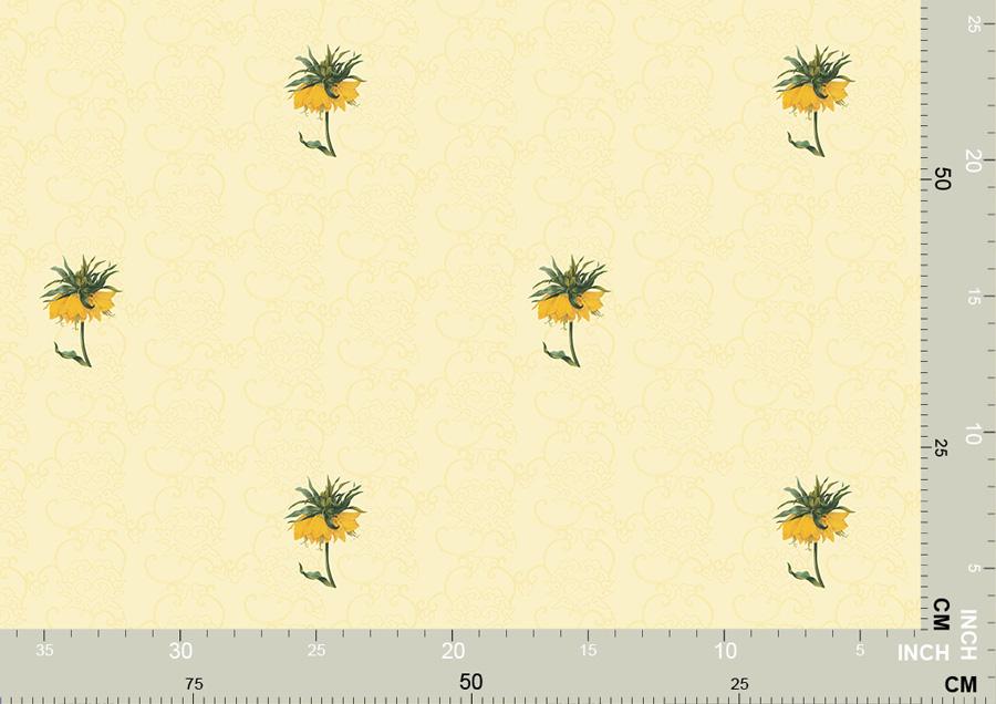 Exotische ornamentale Tapete mit großen Blumen 3